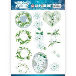 (SB10492)3D Push Out - Jeanine's Art - The colours of winter - White winter flowers