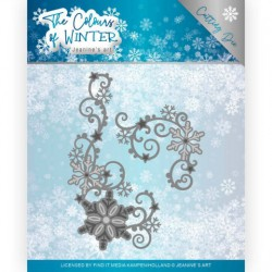 (JAD10109)Dies - Jeanine's Art - The colours of winter - Winter Swirl
