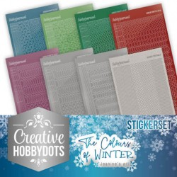(CHSTS007)Creative Hobbydots 7 - Jeanine's Art - The colours of winter - Sticker Set
