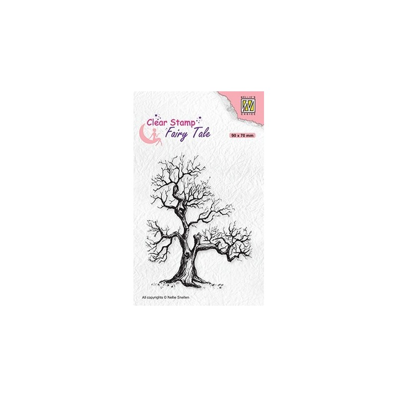 (FTCS018)Nellie's Choice Clear Stamp Fairy Tale nr. 16 Elves tree