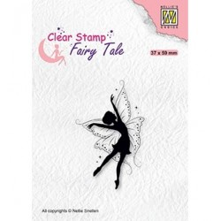 (FTCS021)Nellie's Choice Clear Stamp Fairy Tale nr. 19 Dancing elf