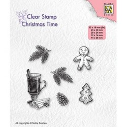 (CT037)Nellie's Choice Clear stamps Christmas time Christmas decorations