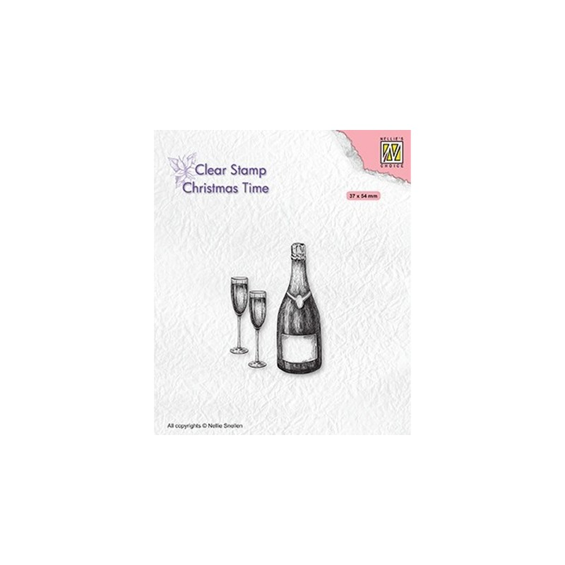 (CT039)Nellie's Choice Clear stamps Christmas time Christmas time Happy New Year