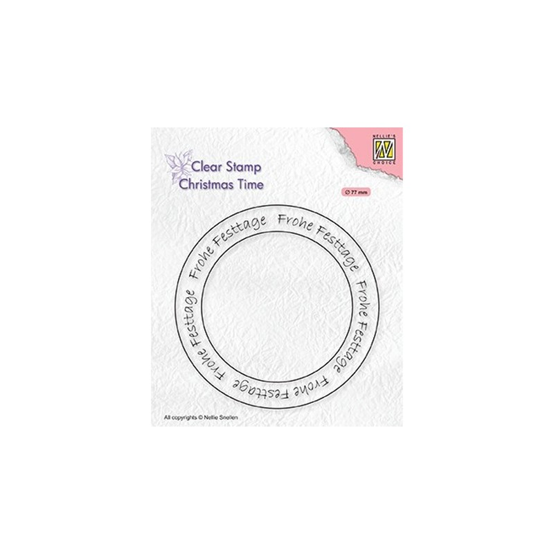 (CT041)Nellie's Choice Clear stamps Christmas time Circle German Text