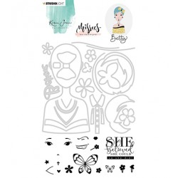 (BASICSDCKJ03)Studio light Stamp & Die Cut Betty Missees Collection, nr.03