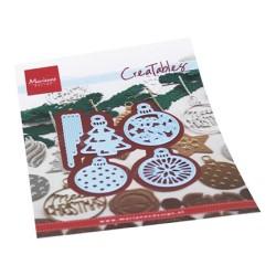 (LR0682)Creatables Merry Christmas baubles