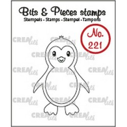 (CLBP221)Crealies Clearstamp Bits & Pieces Penguin