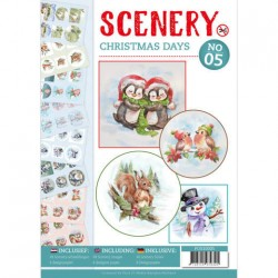 (POS10005)Push Out boek Scenery 5 - Christmas Days