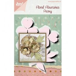 (6002/1514)Cutting embossing dies Floral Florishes Peony