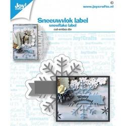 (6002/1532)Cutting embossing dies Snowflake label