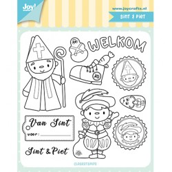 (6410/0524)Clear stamp Sint & Piet