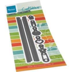 (CR1528)Craftables Long zipper