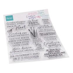 (CS1071)Clear stamp  Creatieve groetjes