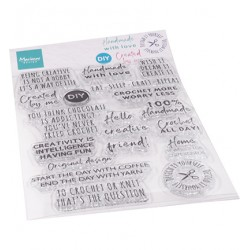 (CS1072)Clear stamp  Crafting sentiments