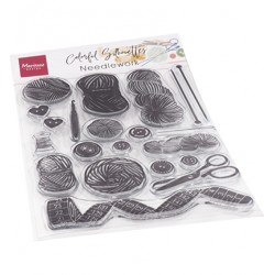 (CS1073)Clear stamp  Colorfull Silhouettes - Needle work