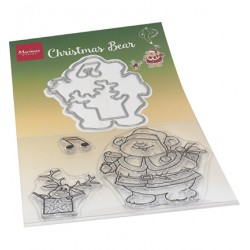 (HT1658)Clear stamp Hetty's Christmas bear