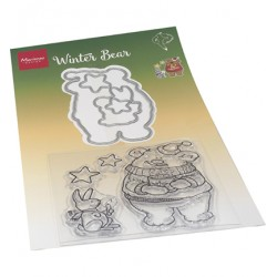 (HT1659)Clear stamp Hetty's Winter bear