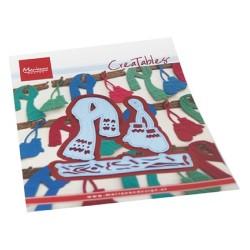 (LR0686)Creatables Mittens & scarf set