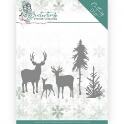 (YCD10217)Dies - Yvonne Creations - Winter Time - Deer in the Forest