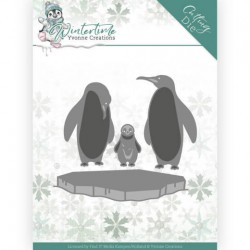 (YCD10218)Dies - Yvonne Creations - Winter Time - Penguins on Ice