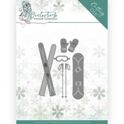 (YCD10219)Dies - Yvonne Creations - Winter Time - Ski Accessoires