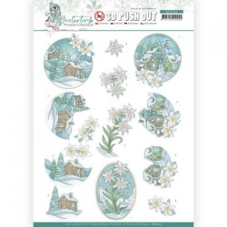(SB10503)3D Push Out - Yvonne Creations - Winter Time - Edelweiss