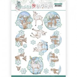 (SB10504)3D Push Out - Yvonne Creations - Winter Time - Deer