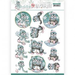 (SB10505)3D Push Out - Yvonne Creations - Winter Time - Penguin