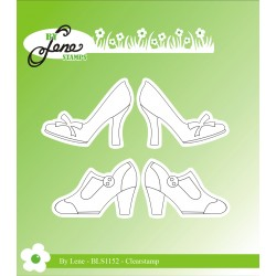 (BLS1152)By Lene Women Shoes Clear Stamps