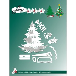 (BLD1304)By Lene Christmas Tree Cutting & Embossing Dies