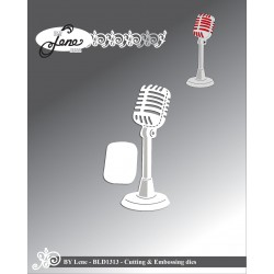 (BLD1313)By Lene Microphone Cutting & Embossing Dies
