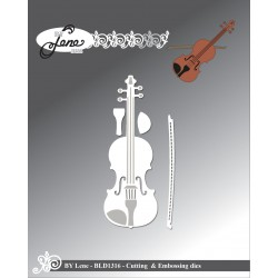 (BLD1316)By Lene Violin Cutting & Embossing Dies