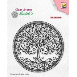 (CSMAN003)Nellie's Choice Clear stamps Mandala Circle with tree