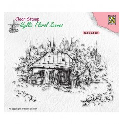 (IFS027)Nellie`s Choice Clearstamp - Idyllic Floral Scenes Old Cottage