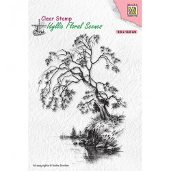 (IFS030)Nellie`s Choice Clearstamp - Idyllic Floral Scenes Tree on waterside