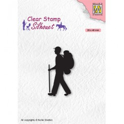 (SIL067)Nellie`s Choice Clearstamp - Silhouette Men-things Backpacker