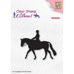 (SIL068)Nellie`s Choice Clearstamp - Silhouette Men-things Horseman