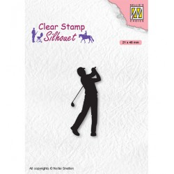 (SIL069)Nellie`s Choice Clearstamp - Silhouette Men-things Golfer
