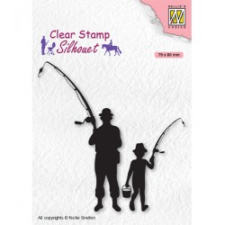 (SIL073)Nellie`s Choice Clearstamp - Silhouette Men-things Fishermen