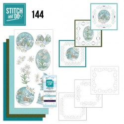 (STDO144)Stitch and Do 144 - Yvonne Creations - Wintertime - Edelweis