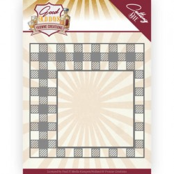 (YCD10220)Dies - Yvonne Creations - Good old day's - Checkered Frame