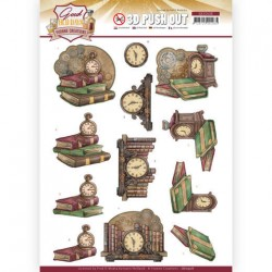 (SB10508)3D Push Out - Yvonne Creations - Good old day's - Clock