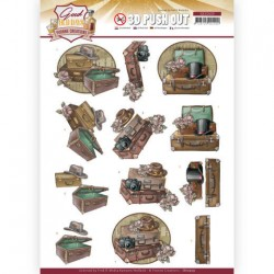 (SB10509)3D Push Out - Yvonne Creations - Good old day's - Suitcase