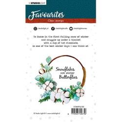 (STAMPSL506)Studio light Stamp Winter's Favourites - nr.506