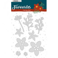 (STENCILSL332)Studio Light Cutting and Embossing Die Winter's Favourites - nr.332