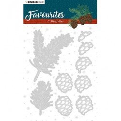 (STENCILSL333)Studio Light Cutting and Embossing Die Winter's Favourites - nr.333