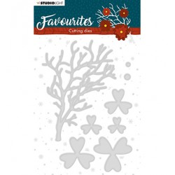 (STENCILSL334)Studio Light Cutting and Embossing Die Winter's Favourites - nr.334