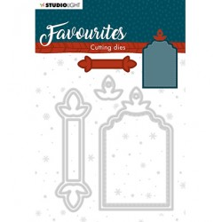 (STENCILSL335)Studio Light Cutting and Embossing Die Winter's Favourites - nr.335