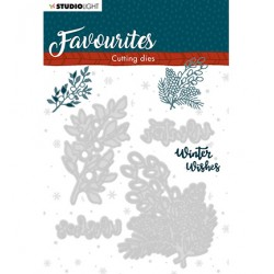 (STENCILSL336)Studio Light Cutting and Embossing Die Winter's Favourites - nr.336