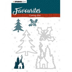 (STENCILSL337)Studio Light Cutting and Embossing Die Winter's Favourites - nr.337